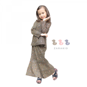 mini kurung kids peach